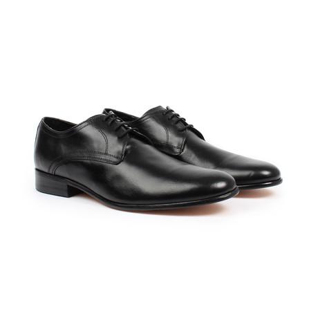 Plain Toe Oxford Shoes // Black (US: 6)