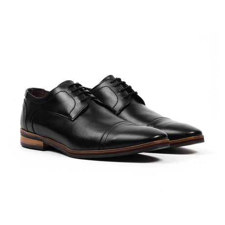 Cap Toe Dress Shoe // Black (US: 6)