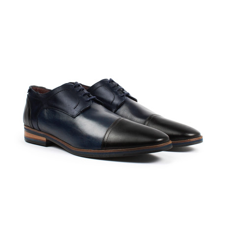 Jack's Andre // Cap Toe Dress Shoe // Navy Black (US: 6)