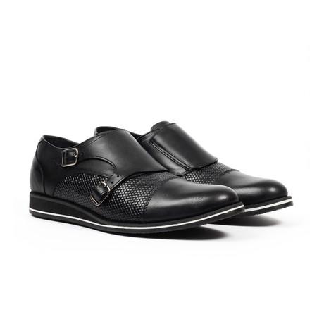 Monk Strap Dress Shoes // Black (US: 6)