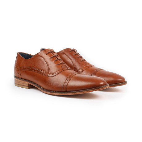 Jack's Andre // Lace-up Oxford Dress Shoes // Tan (US: 6)