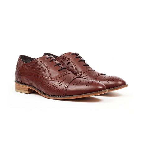 Jack's Andre // Brogue Detail Dress Shoe // Dark Brown (US: 7)