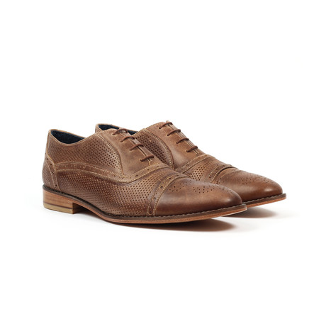 Jack's Andre // Brogue Detail Dress Shoe // Taupe (US: 6)