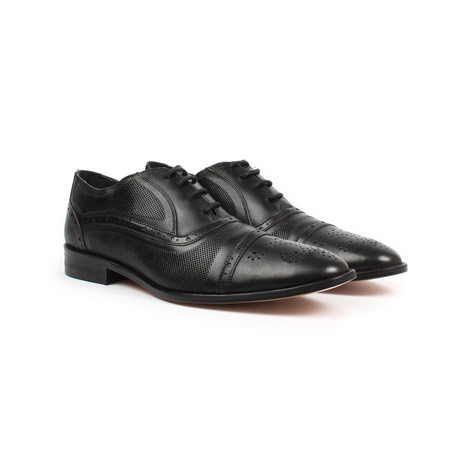Jack's Andre // Brogue Detail Dress Shoe // Black (US: 6)