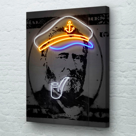 "Neon Grant (18""W x 24""H x 1.5""D // Gallery Wrapped)"