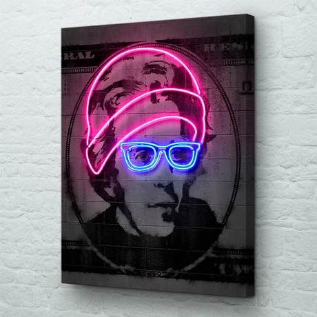 "Neon Jackson (18""W x 24""H x 1.5""D // Gallery Wrapped)"