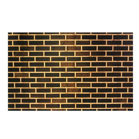 """Brick Pattern Walnut + Maple Mortar // Cutting Board (16""""L X 12""""W x 2""""H)"""
