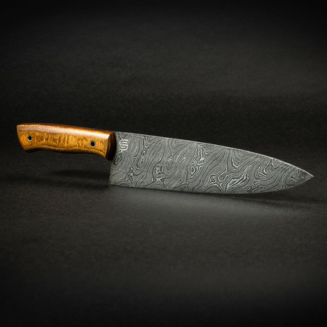 "Kodiak 8"" Damascus Steel Chef Knife with Rosewood Handle"