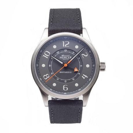 Mercer Wayfarer II Gray GMT Quartz // WAYG