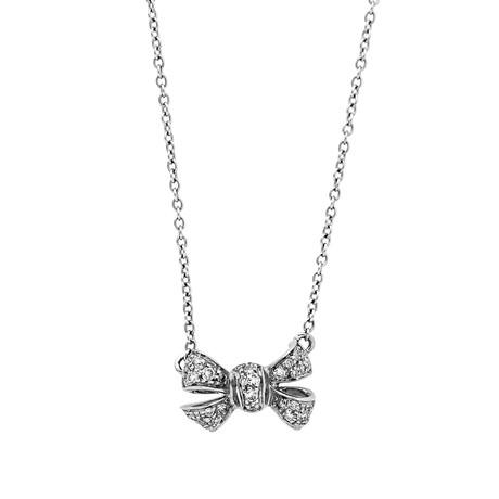 Vintage Pomellato Crewneck Forever 18k White Gold Necklace