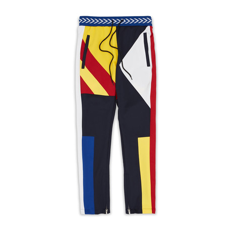 Courtside Track Pants // Blue + Yellow (S)