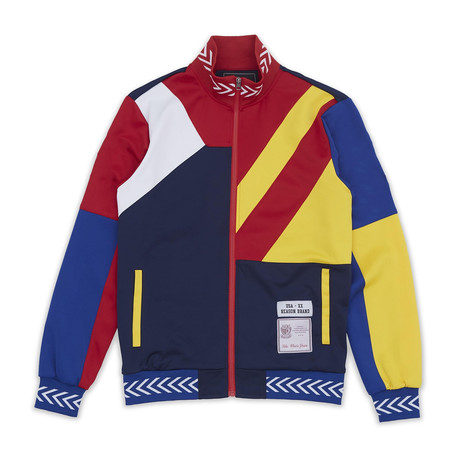 Courtside Track Jacket // Blue + Yellow (L)