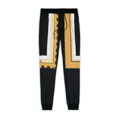 Marble + Gold Track Pants // Multi (S)