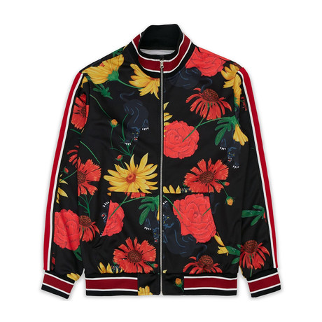 Floral Panther Track Jacket // Multi (S)
