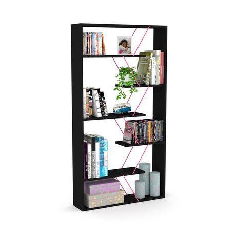 Tars Bookcase (Black, Pink)