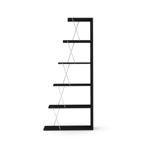 Tars Mini Bookcase (Black, Pink)