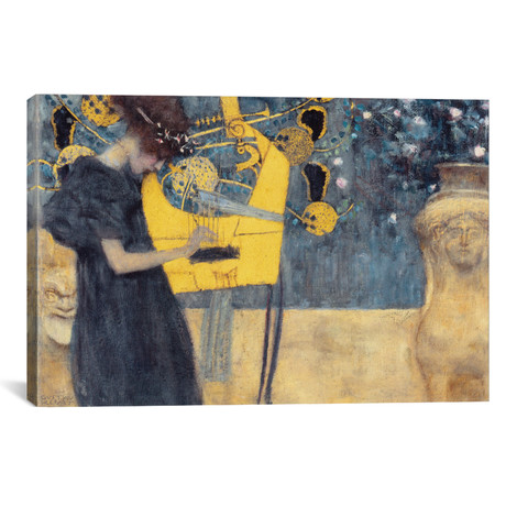 "Musik I 1895 // Gustav Klimt (40""W x 26""H x 1.5""D)"
