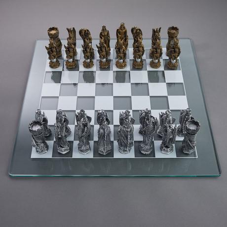 King Arthur Fantasy Chess Set // Metallic