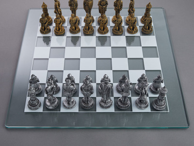 photo of Medieval Knight Chess Set by Touch Of Modern