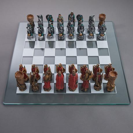 King Arthur Fantasy Chess Set // Full Color