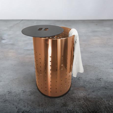 Laundry Bin + MDF Lid // 50L (Brushed Copper)