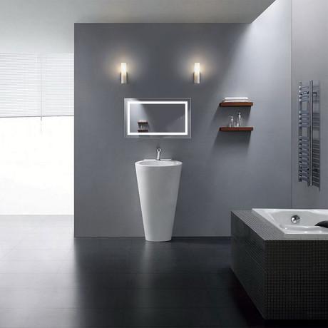 """Icon LED Mirror // Dimmer + Defogger (18""""L x 30""""W)"""
