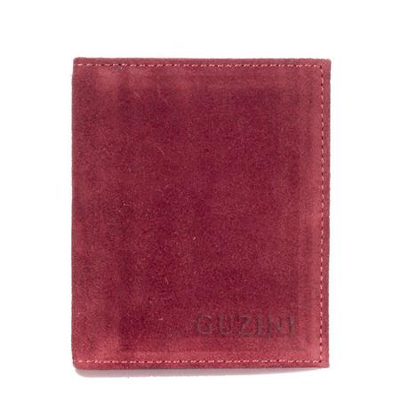 Bi-Fold 6-Card Holder (Claret Red)