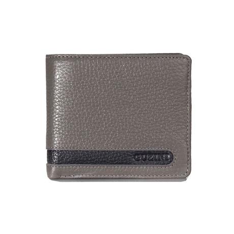 Bi-Fold Cut-Out Stitch Wallet // Gray