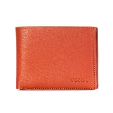 Bi-Fold Textured Wallet // Tobacco
