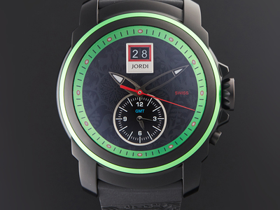 Photo of Michel Jordi Artisanal Timepieces Starting at $409.99 For 24 Hours Only Michel Jordi Mega Icon Spicy Green GMT Quartz // SIM.300.11.003.01 by Touch Of Modern
