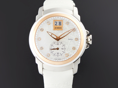Photo of Michel Jordi Artisanal Timepieces Starting at $409.99 For 24 Hours Only Michel Jordi Lady Icon White Glamour Quartz // SIL.401.16.005.03 by Touch Of Modern