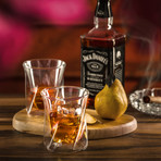 Lacey Double Wall Insulated Whiskey Glasses // Set of 4