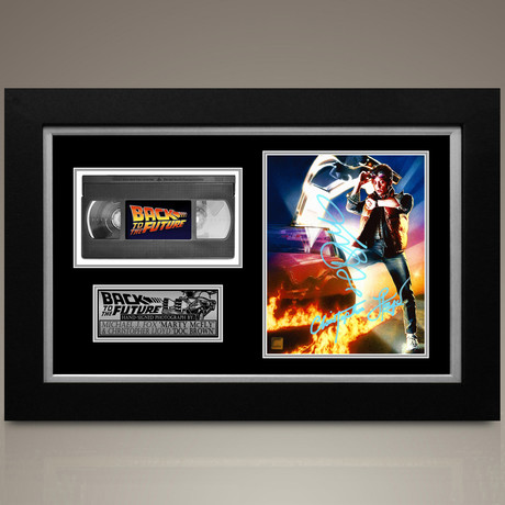 Back To The Future // Michael J. Fox + Christopher Lloyd Hand-Signed // Custom Frame (Signed Photo Only + Custom Frame)