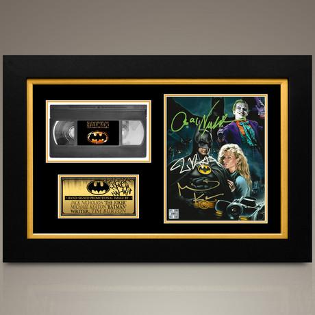 Batman 1989 // Jack Nicholson + Michael Keaton + Tim Burton Hand-Signed // Custom Frame (Signed Photo Only + Custom Frame)