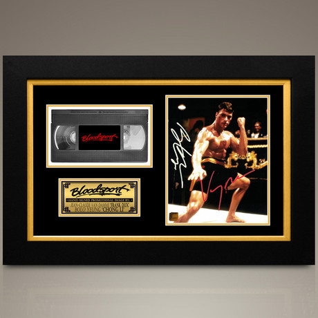 Bloodsport // Jean Claude Van Damme + Bolo Yeung Hand-Signed // Custom Frame (Signed Photo Only + Custom Frame)