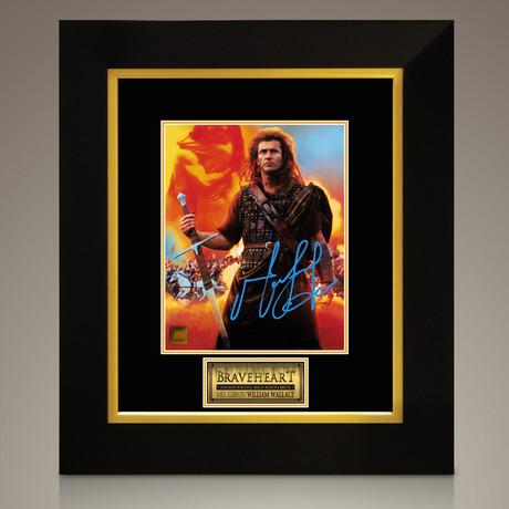 Braveheart // Mel Gibson Hand-Signed // Custom Frame (Signed Photo Only + Custom Frame)