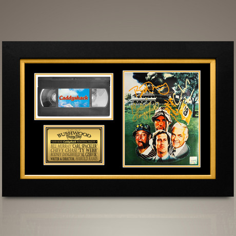 Caddyshack // Bill Murray + Rodney Dangerfield + Chevy Chase + Harold Ramis Hand-Signed // Custom Frame (Signed Photo Only + Custom Frame)