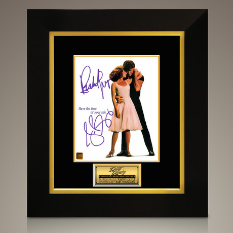 Dirty Dancing // Patrick Swayze + Jennifer Grey Hand-Signed // Custom Frame (Signed Photo Only + Custom Frame)
