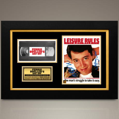 Ferris Bueller // Matthew Broderick + Jeffrey Jones Hand-Signed // Custom Frame (Signed Photo Only + Custom Frame)