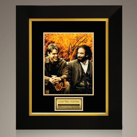 Good Will Hunting // Robin Williams + Matt Damon Hand-Signed // Custom Frame (Signed Photo Only + Custom Frame)