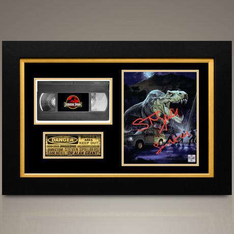 Jurassic Park // Steven Spielberg + Sam Neill Hand-Signed // Custom Frame (Signed Photo Only + Custom Frame)
