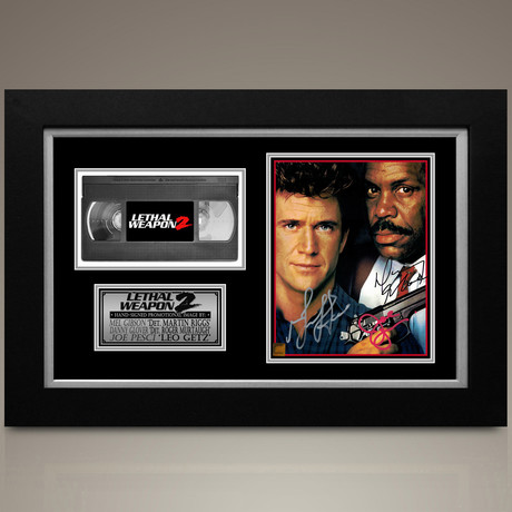 Lethal Weapon // Danny Glover + Mel Gibson + Joe Pesci Hand-Signed // Custom Frame (Signed Photo Only + Custom Frame)