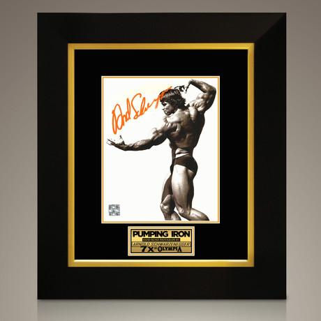 Pumping Iron // Arnold Schwarzenegger Hand-Signed // Custom Frame (Signed Photo Only + Custom Frame)