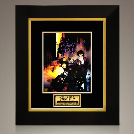 Purple Rain // Prince Hand-Signed // Custom Frame (Signed Photo Only + Custom Frame)