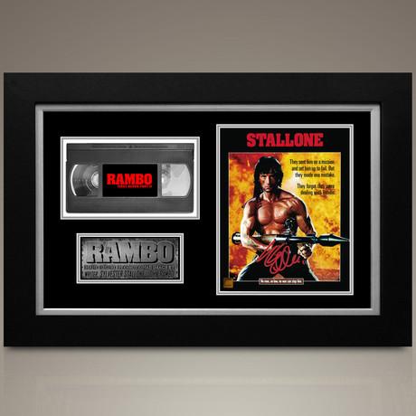 Rambo // Sylvester Stallone Hand-Signed // Custom Frame (Signed Photo Only + Custom Frame)