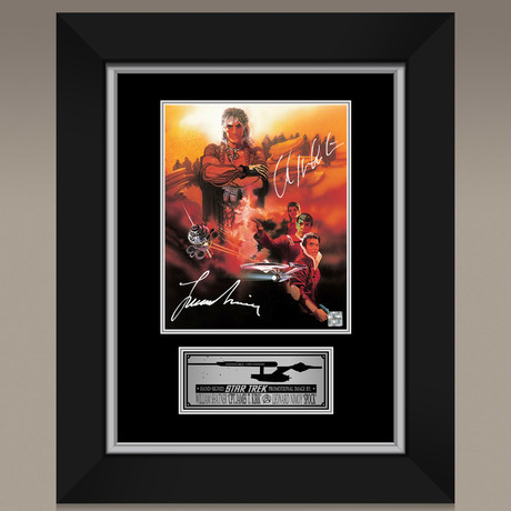 Star Trek The Wrath Of Kahn // Leonard Nimoy + William Shatner Hand-Signed // Custom Frame (Signed Photo Only + Custom Frame)
