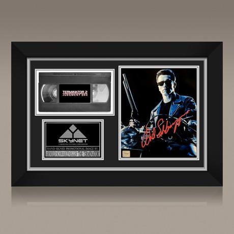 Terminator 2 // Arnold Schwarzenegger Hand-Signed // Custom Frame (Signed Photo Only + Custom Frame)