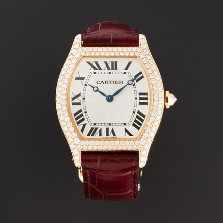 Cartier Tortue Diamond Manual Wind // 2496 // Pre-Owned