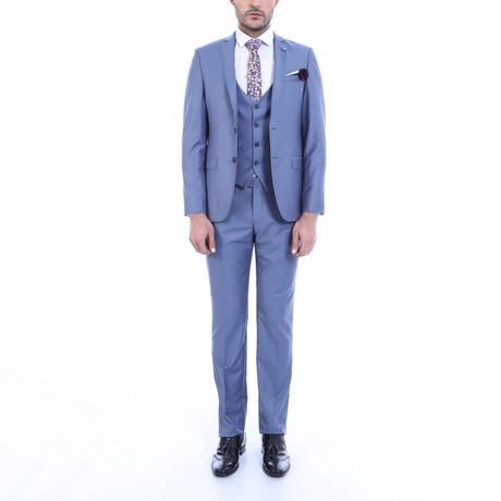 Ike 3-Piece Slim-Fit Suit // Navy (US: 34R)