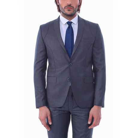 Forest 2-Piece Slim-Fit Suit // Smoke (US: 34R)